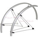 Garde boue velo paire route 700 35mm stronglight alu chrome argent a tringles