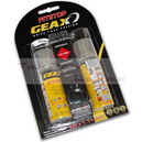 Bombe anti crevaison reparation geax pit stop vtt  raccord direct 2x50ml   clips (sous carte) tubeless et tubetype