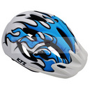 Casque velo ktz x-fire in-mold mat bleu-blanc taille 52-58 turnlock sous carte