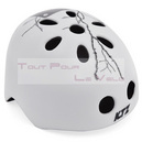 Casque velo ktz freestyle in-mold blanc mat avec plaque taille 52-57 turnlock sous carte