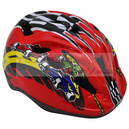Casque velo ktz kid racing damier rouge taille 47-50 turnlock sous carte