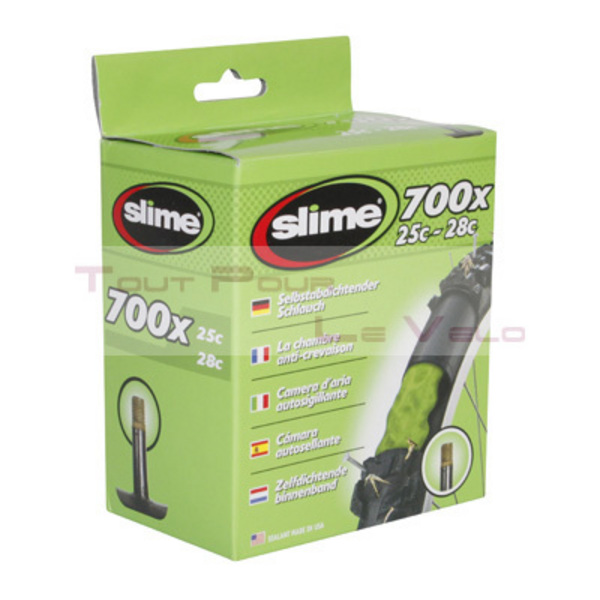 Chambre a air velo 700x25 28 slime valve standard avec for Chambre a air velo dimension