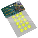 Autocollant reflechissant jaune fluo rond diam 16mm (15 pieces)