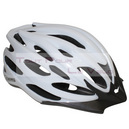 Casque cycliste ges wind blanc in-mold taille 54-58 avec visiere et system quick lock